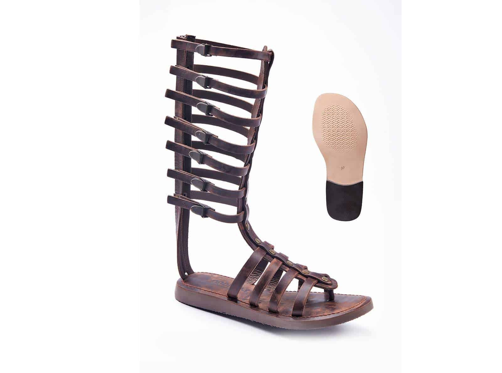 abb2406167a The gladiators drew attention to legs and are popular today. Because of the gladiator  sandals detailing works