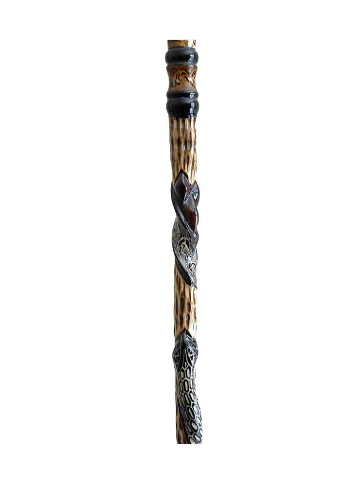 Orthopedic Snake Walking Cane cool11 - Hand Carving Art; Walking Canes