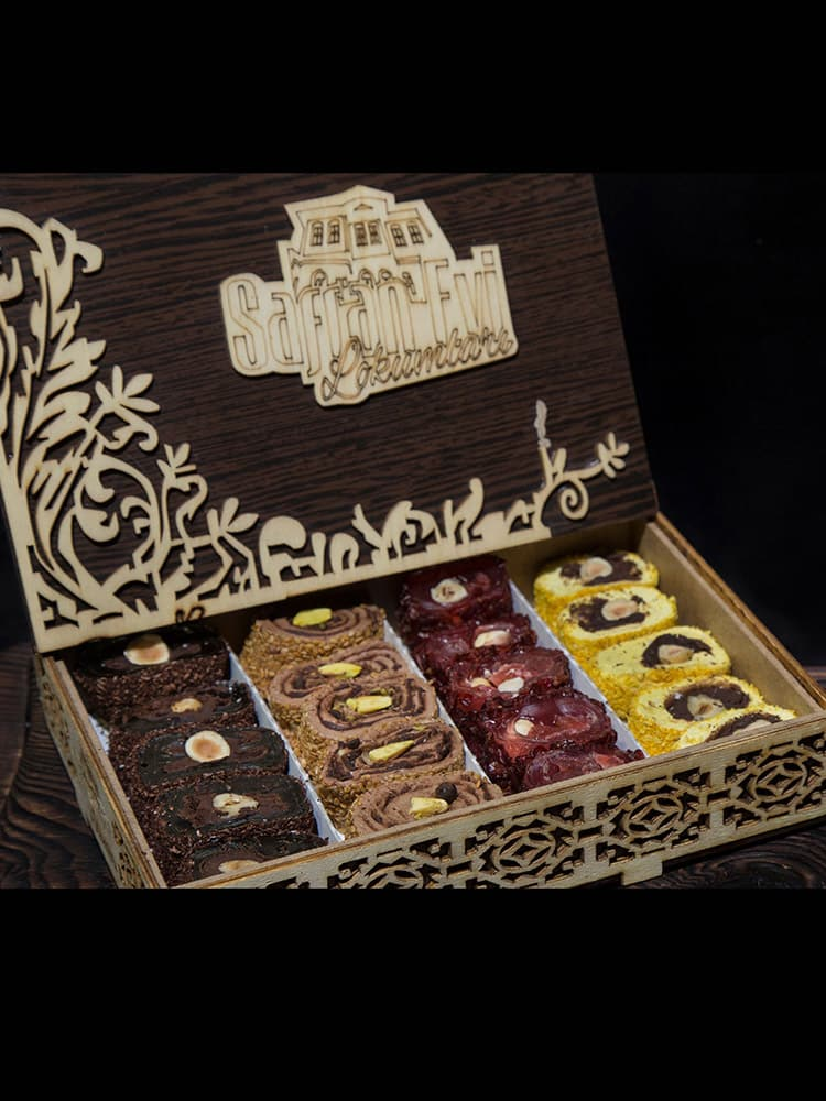 Turkish Delight In Special Wooden Gift Box - UNESCO World Heritage Sites