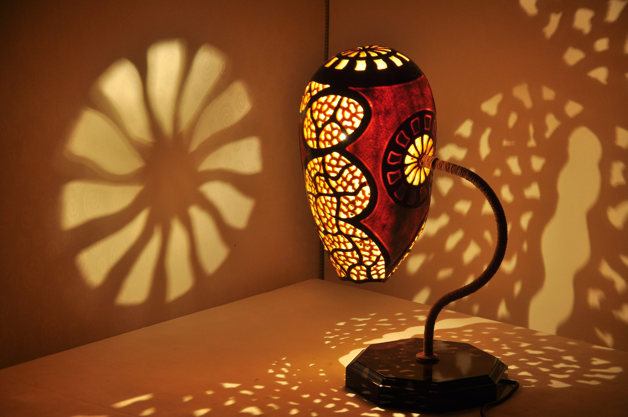 Turkeyfamousfor Magic Shadows Gourd Lampshade 10 - Traditional Gifts