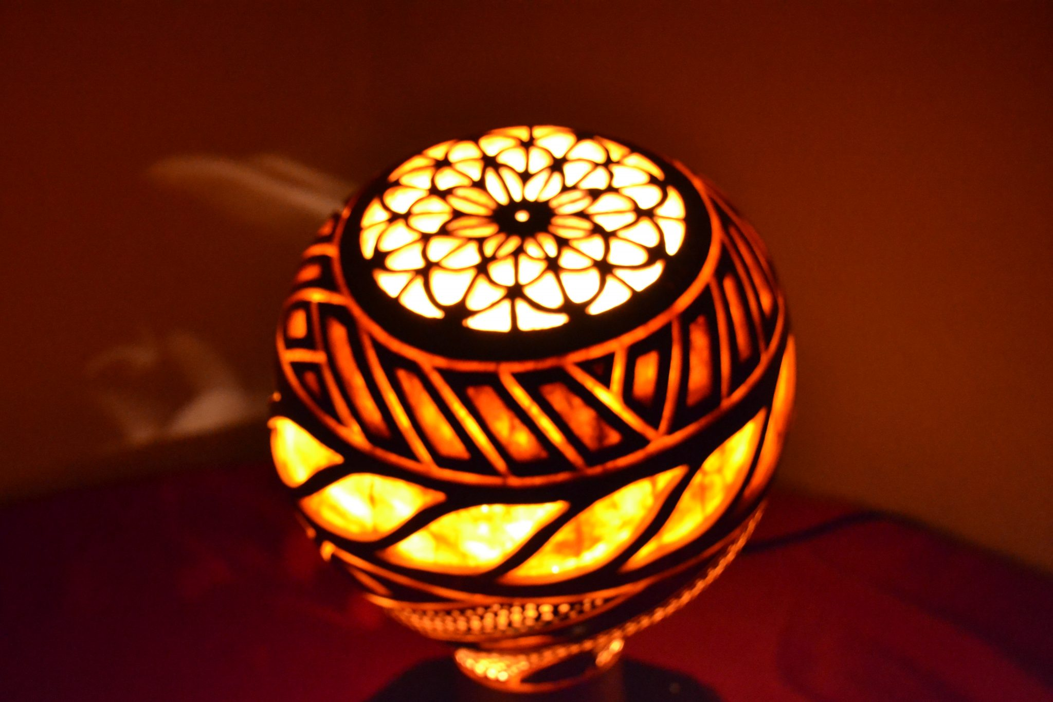Turkeyfamousfor Sculptural Gourd Lampshade 4 - Traditional Gifts