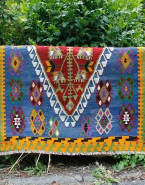 Aurora vintage kilim 3x4ft 108x 148cm 290x370 - Famous Things To Buy In Turkey